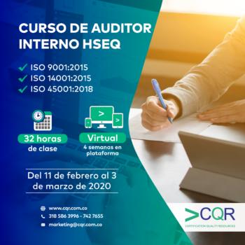 Auditor Interno HSEQ FEBRERO