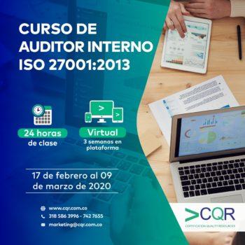 Auditor Interno ISO 27001 Febrero