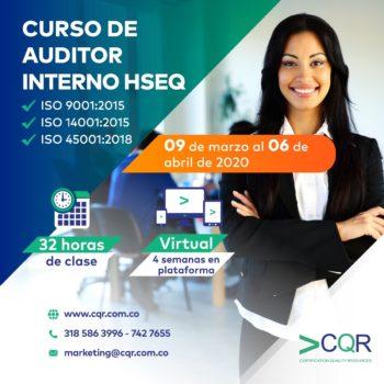 CQR Cotecna Curso Auditor Interno Marzo