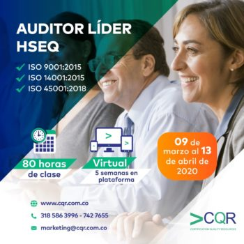 CQR Cotecna Curso Auditor Lider Marzo