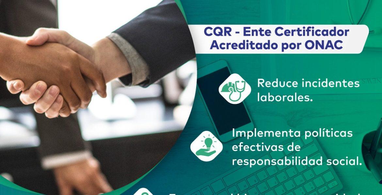 Certificación ISO 45001 CQR Cotecna