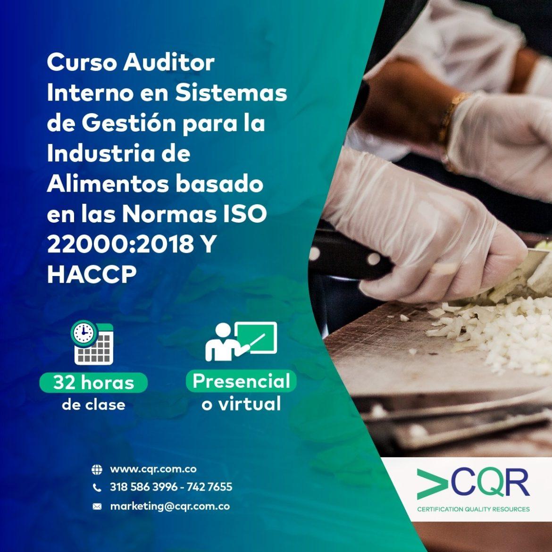 Curso ISO 22000 HACCP CQR Cotecna