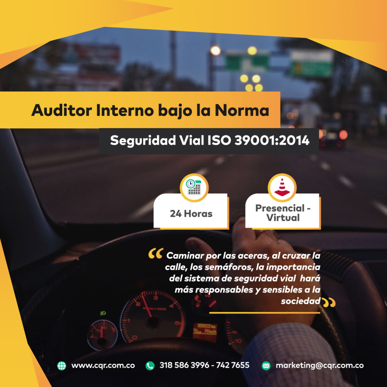 Auditor Interno Seguridad vial CQR Cotecna