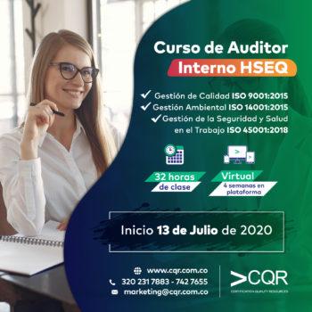 Auditor HSEQ Julio Interno CQR