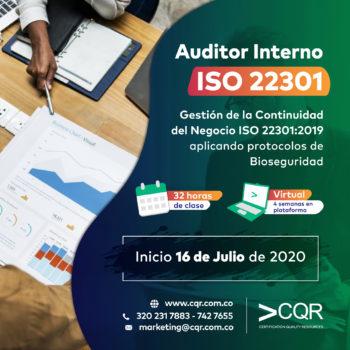 Auditor Interno ISO 22301