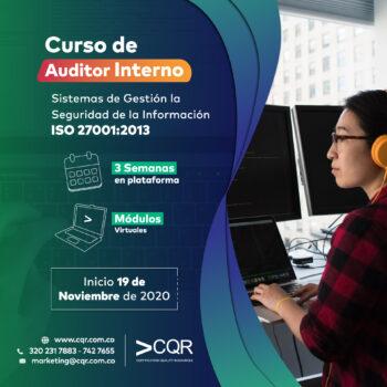 Auditor Interno IS Noviembre CQR