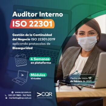 Auditor Interno ISO 22301 CQR