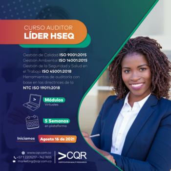 Auditor HSEQ Agosto Lider CQR